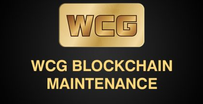 WCG BLOCKCHAIN MAINTENANCE